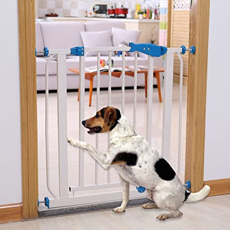 Baby Safety Gate Stairs Door Walk Through Child Toddler Pet Protective Fence  Metal Easy Locking System