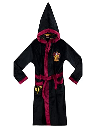 Harry Potter Boys Gryffindor Dressing Gown Black 8-9 Years  Amazon.co.uk   Clothing c7a0ae147