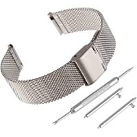 Bewish - Cinturino in acciaio inossidabile con pin a rilascio veloce per strumenti Citizen incluso l'argento