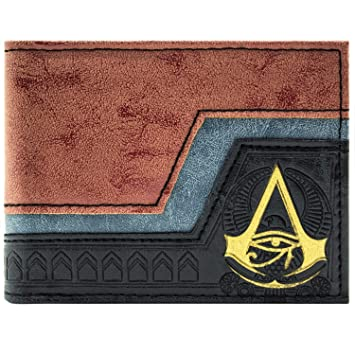 Cartera de Assassins Creed Origins símbolo en relieve Marrón: Amazon.es: Equipaje