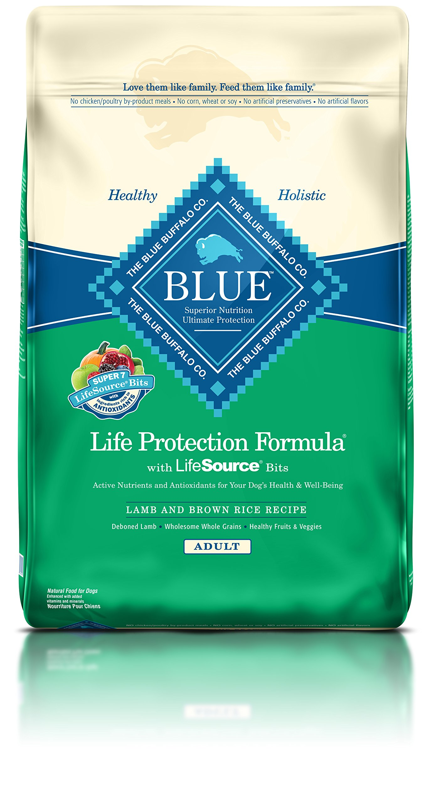 Blue Buffalo Life Protection Dry Adult Dog Food Lamb & Brown Rice Recipe 30 LB