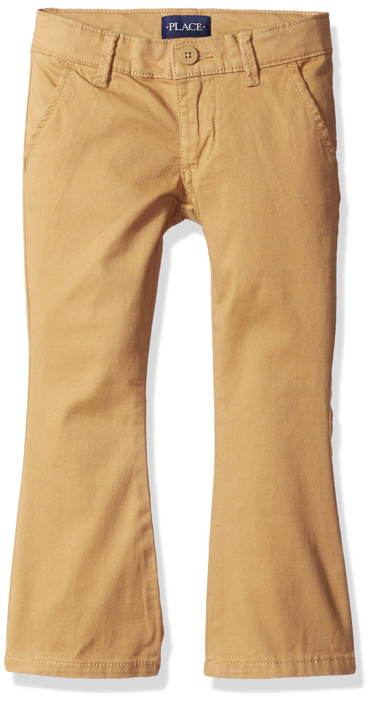 The Children's Place Girls Plus Size' Uniform Pants, Biscuit 44404, 12