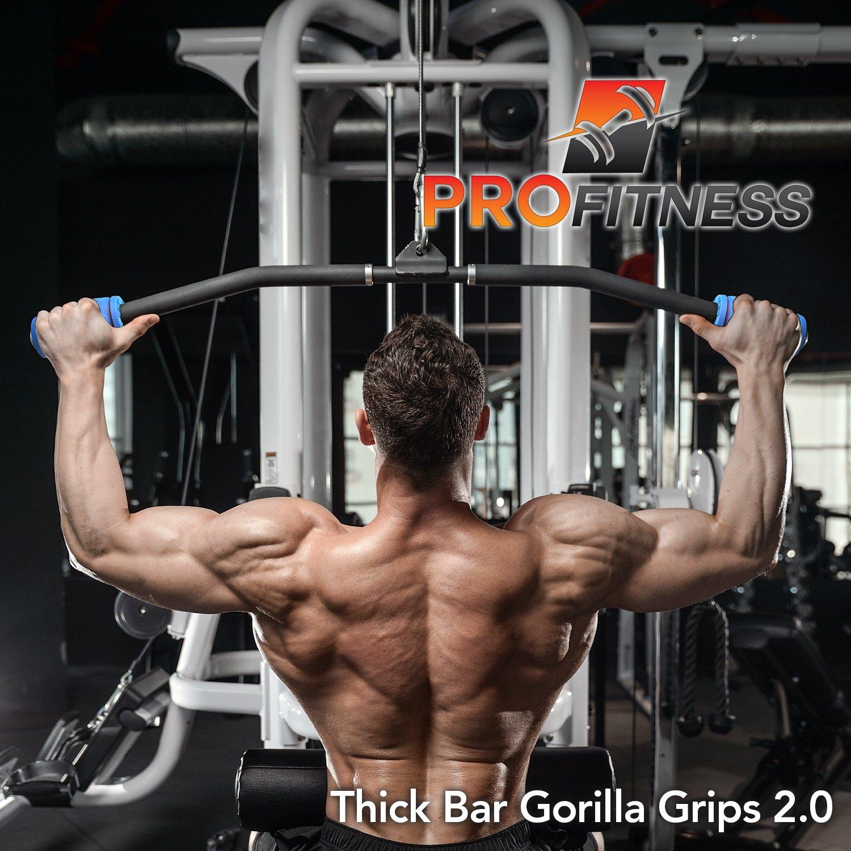 Gorilla Grip 2.0 levantamiento de pesas de grosor Grips - Fitness - Accesorio para pesas, mancuernas y pesas rusas - rápidamente fortalecer los antebrazos, ...