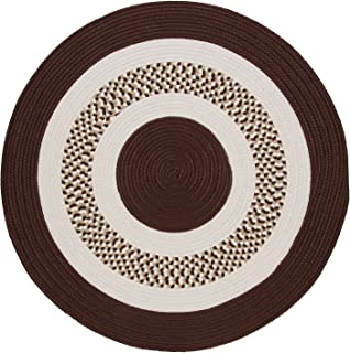 product image for Flowers Bay Round Area Rug, 4-Feet, Brown