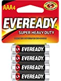 Eveready Super Heavy Duty Batteries, AAA, 4-Count