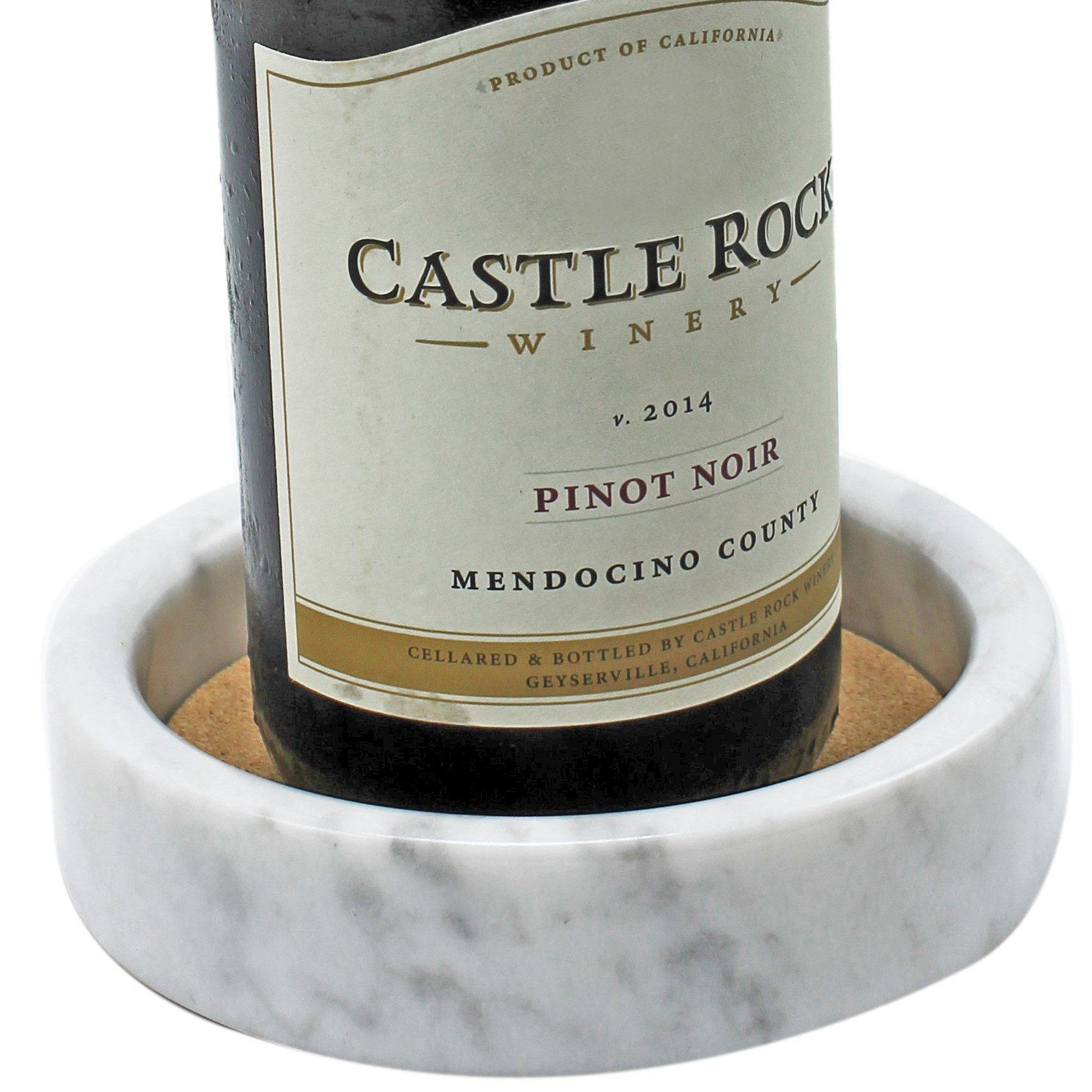 CraftsOfEgypt White - Marble Wine Bottle Coaster - Coaster Absorbent Cork Holder Bottles and Any Occasion