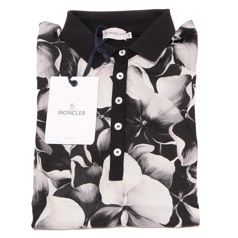 3401O maglia polo MONCLER nero maglie donna t-shirt women [S ...