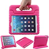 TRELC iPad Mini Case, Kids Rotating Protective Shockproof Handle Stand Cover, EVA Foam Lightweight for Apple iPad Mini 1 2 3 (Rosy)
