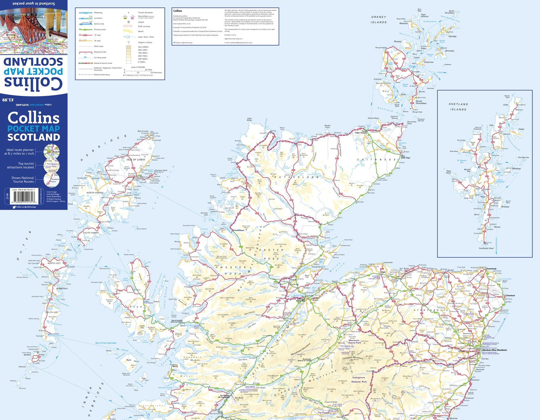 Road Map Of England And Scotland.Scotland Pocket Map Amazon Co Uk Collins Maps 9780007541317 Books