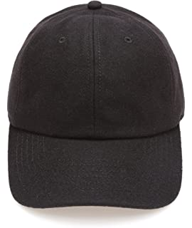 2cd1d590 Amazon.com: KBW-09 BLK Wool Felt Solid Baseball Hat Cap: Sports ...