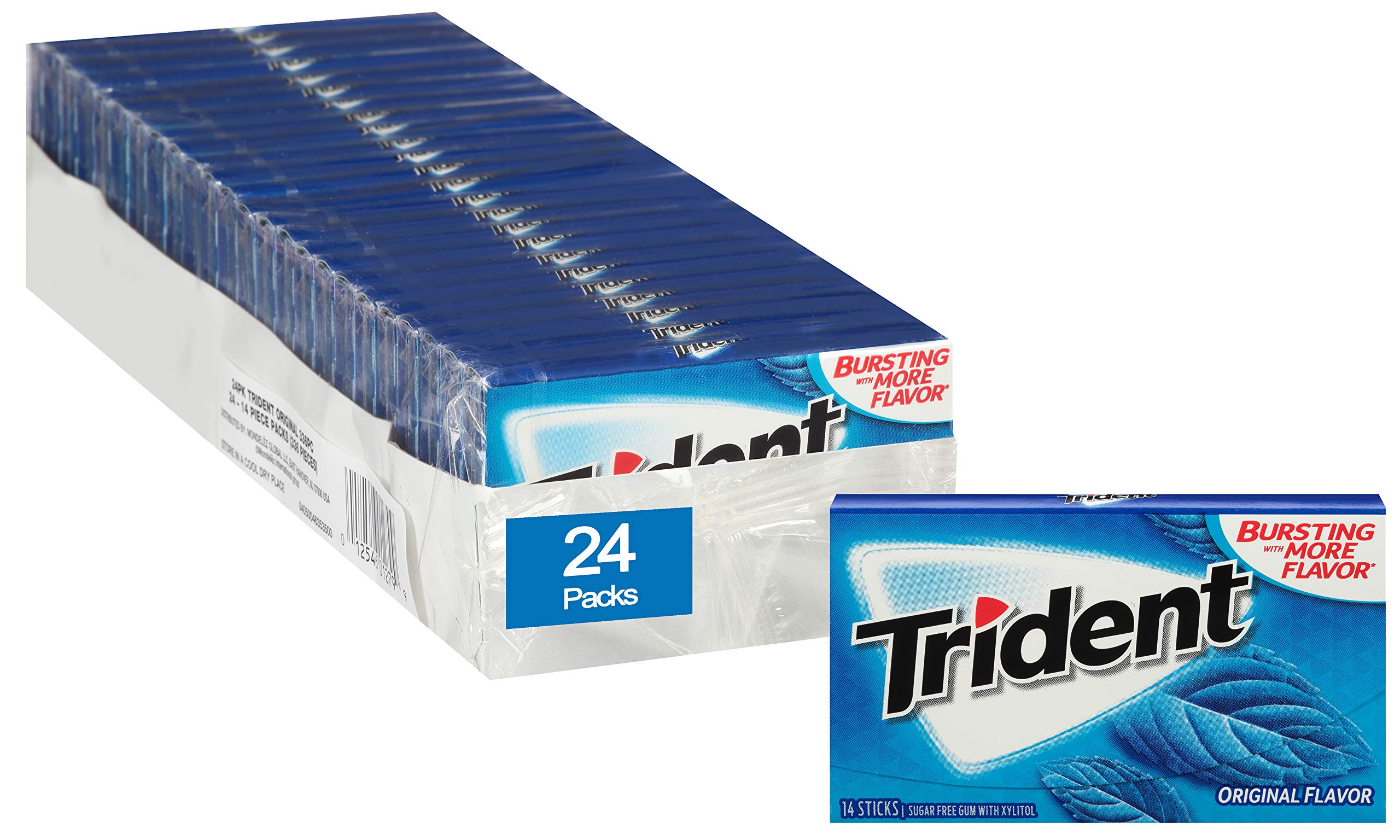 Trident Sugar Free Gum Original, 14 piece pack (24 Packs) by Trident (Image #3)