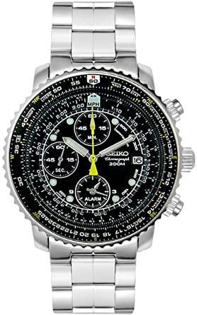 chronograph flight computer watch seiko s watches men