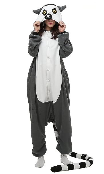 Unisex Animal Pijama Ropa de Dormir Cosplay Kigurumi Onesie Lemur Ring-Tailed Disfraz para Adulto Entre 1, 40 y 1, 87 m: Amazon.es: Ropa y accesorios