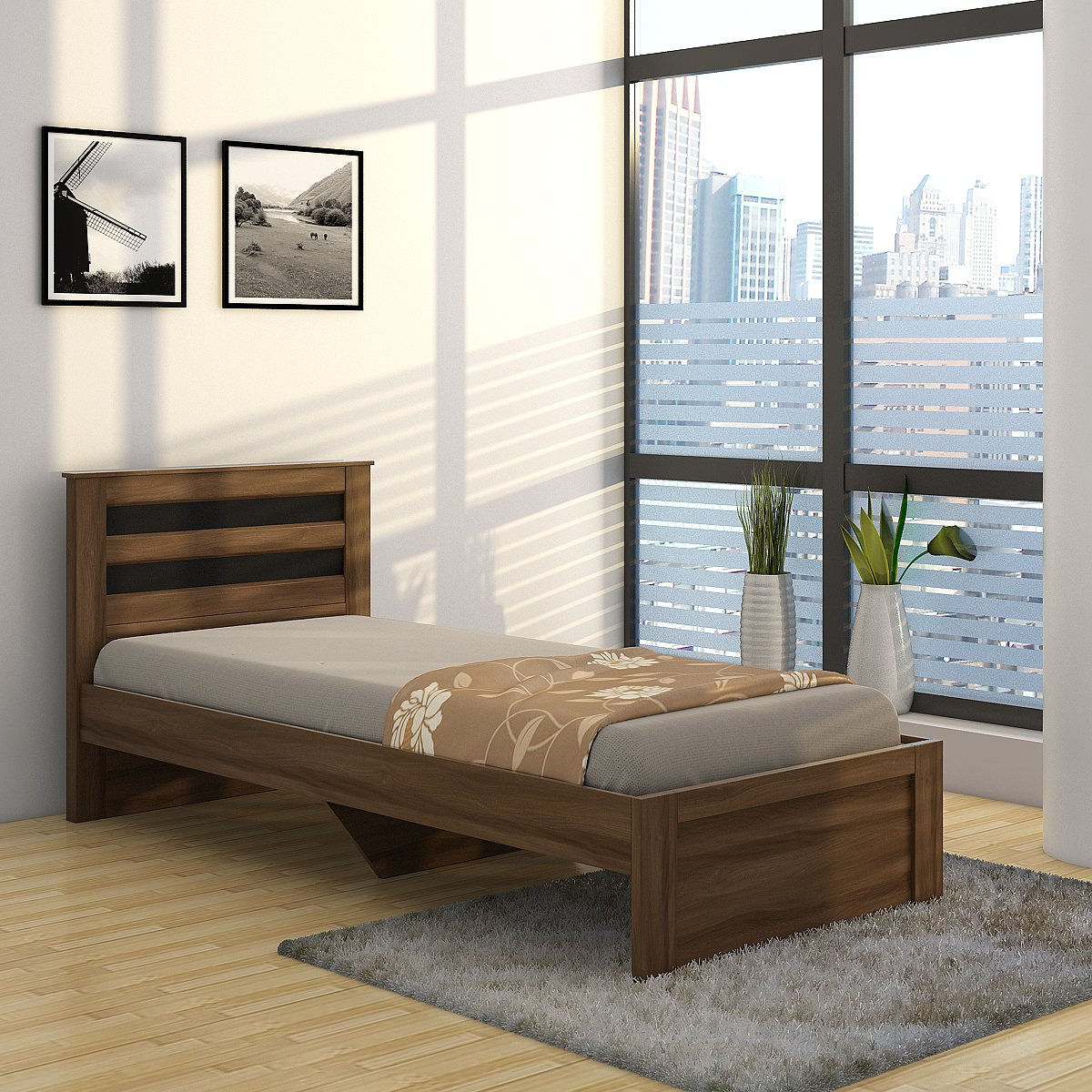 Spacewood Astersb Single Size Bed