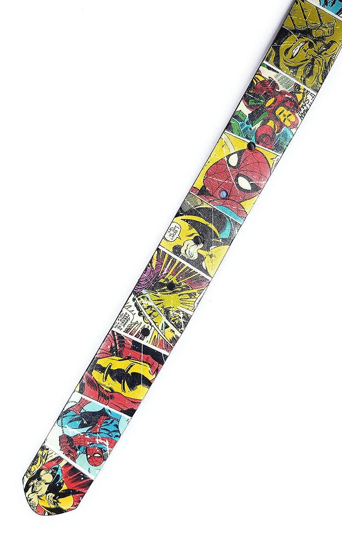 Marvel Comics Print with Logo Buckle Superhero Belt 91cm