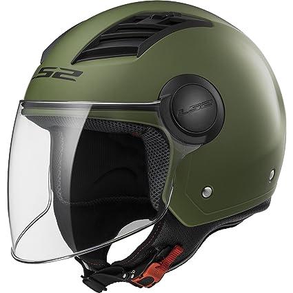 LS2 Casco Moto Of562 Airflow, Matt Military Green Long, XL