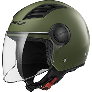 LS2 Casco Moto of562 Airflow, Matt Military Green Long, XXL