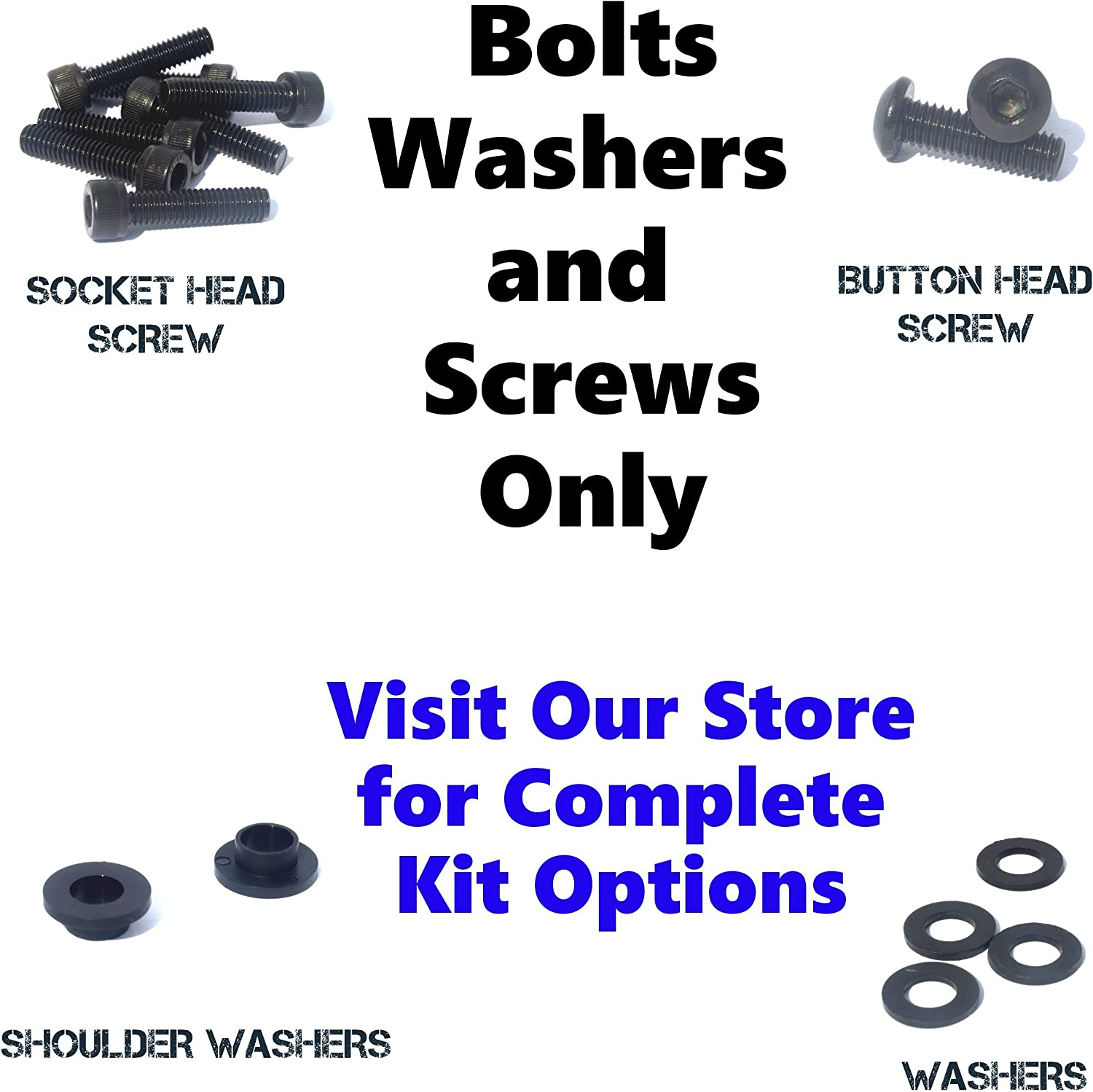 Fasteners and Hardware Black Standard Motorcycle Fairing Bolt Kit For Yamaha YZF-R1 2002-2003 Body Screws