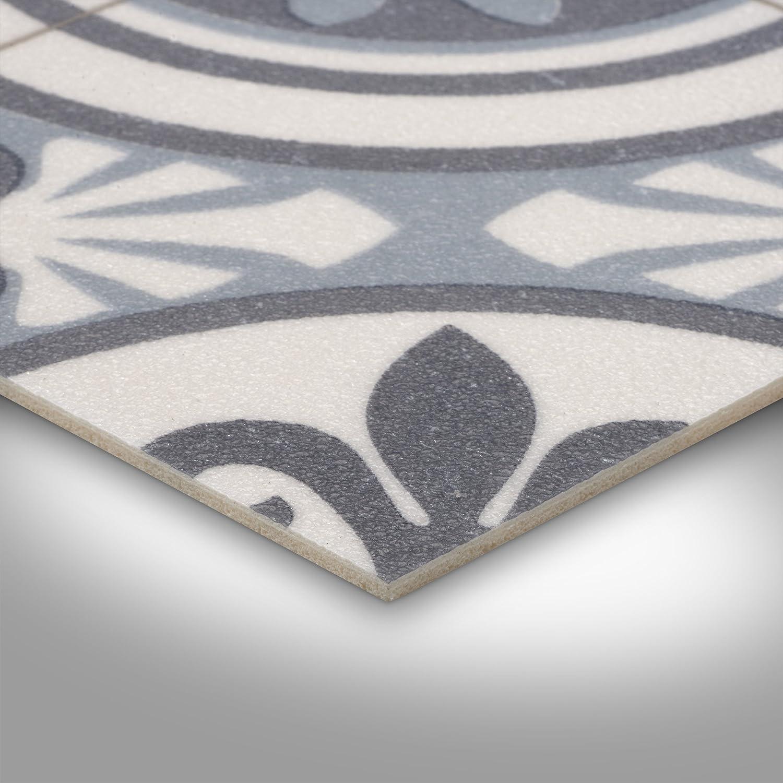 verschiedene Gr/ö/ßen 200 Meterware PVC Bodenbelag Steinoptik Fliesenoptik Retro blau Gr/ö/ße: Muster 300 und 400 cm Breite
