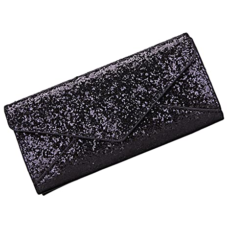 Sasairy Women Bi-fold Glitter Shinny Leather Long Wallet Purse with Card Slot Bag