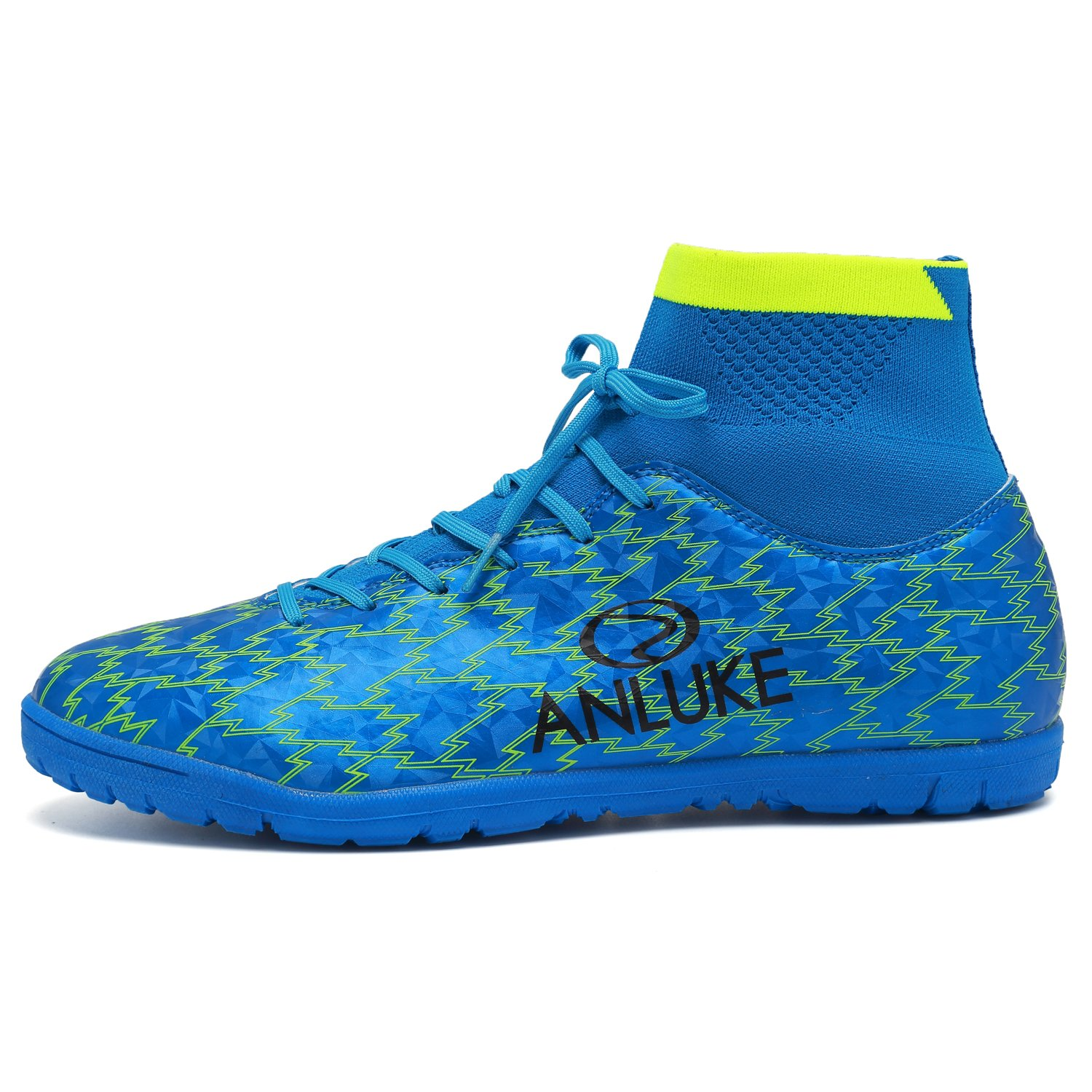ANLUKE Mens Hightop Training Soccer Shoes TF Football Boots