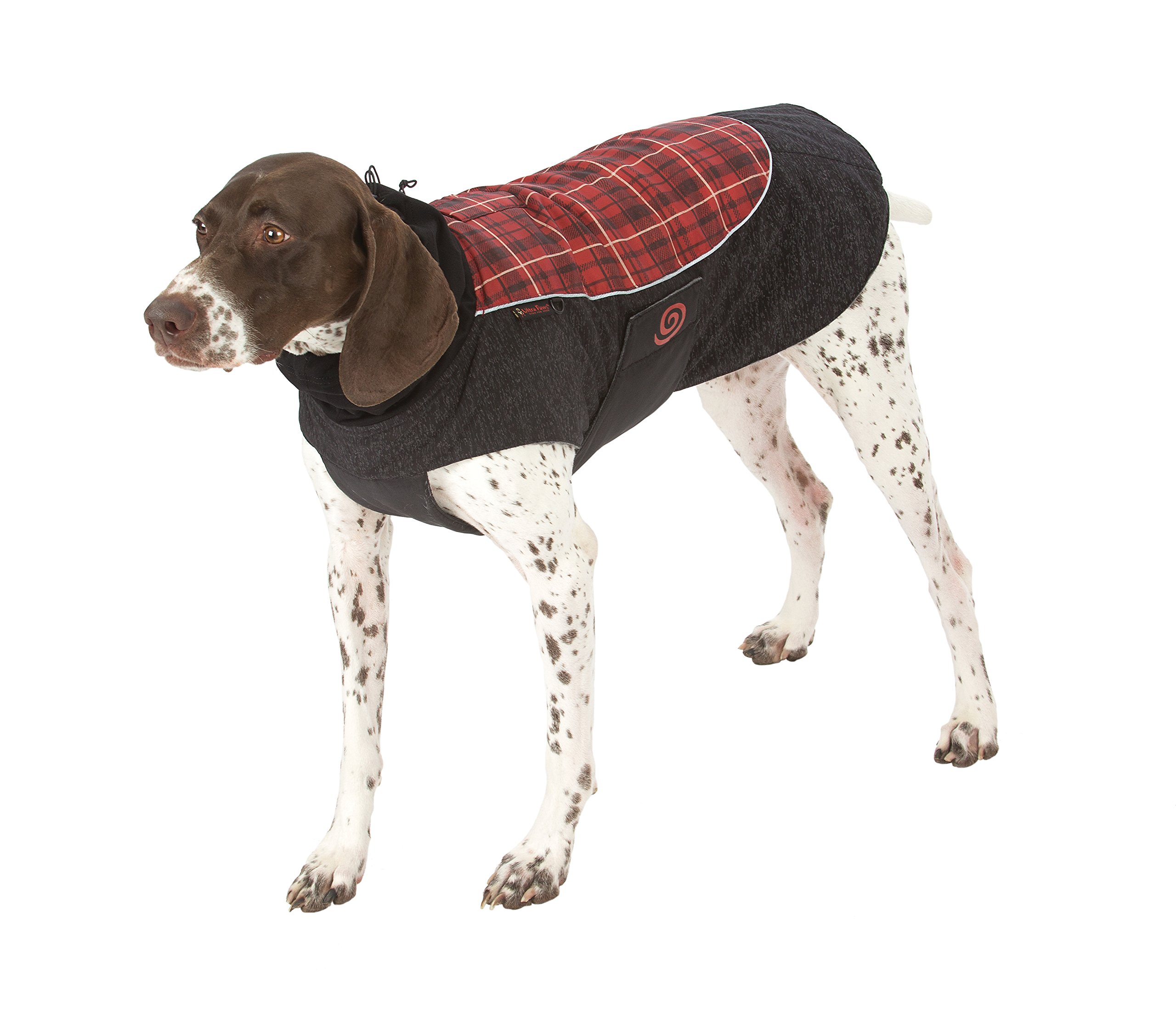 Ultra Paws Comfort Coat, Comfy Red Plaid, Large