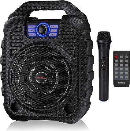 Earise T26 Altavoz Bluetooth Portátil Con Micrófono Inalámbrico Sistema Pa Recargable Con Radio Fm Grabación De Audio Control Remoto Compatible Con Tarjeta Tf Usb Perfecto Para Fiestas Musical Instruments