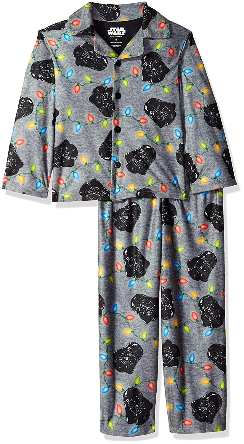 Star Wars Boys' Darth Vader Holiday 2 Piece Pajama Coat Set