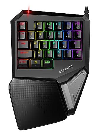 aLLreli Teclado Mecánico RGB para una Mano Gaming (programables Teclas, LED Backlit) Negro: Amazon.es: Electrónica