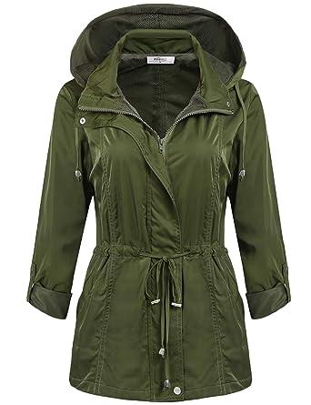 492b487bf04d5 Meaneor Femme Imperméable A Capuche Manteau De Pluie Femme Jacket Raincoat