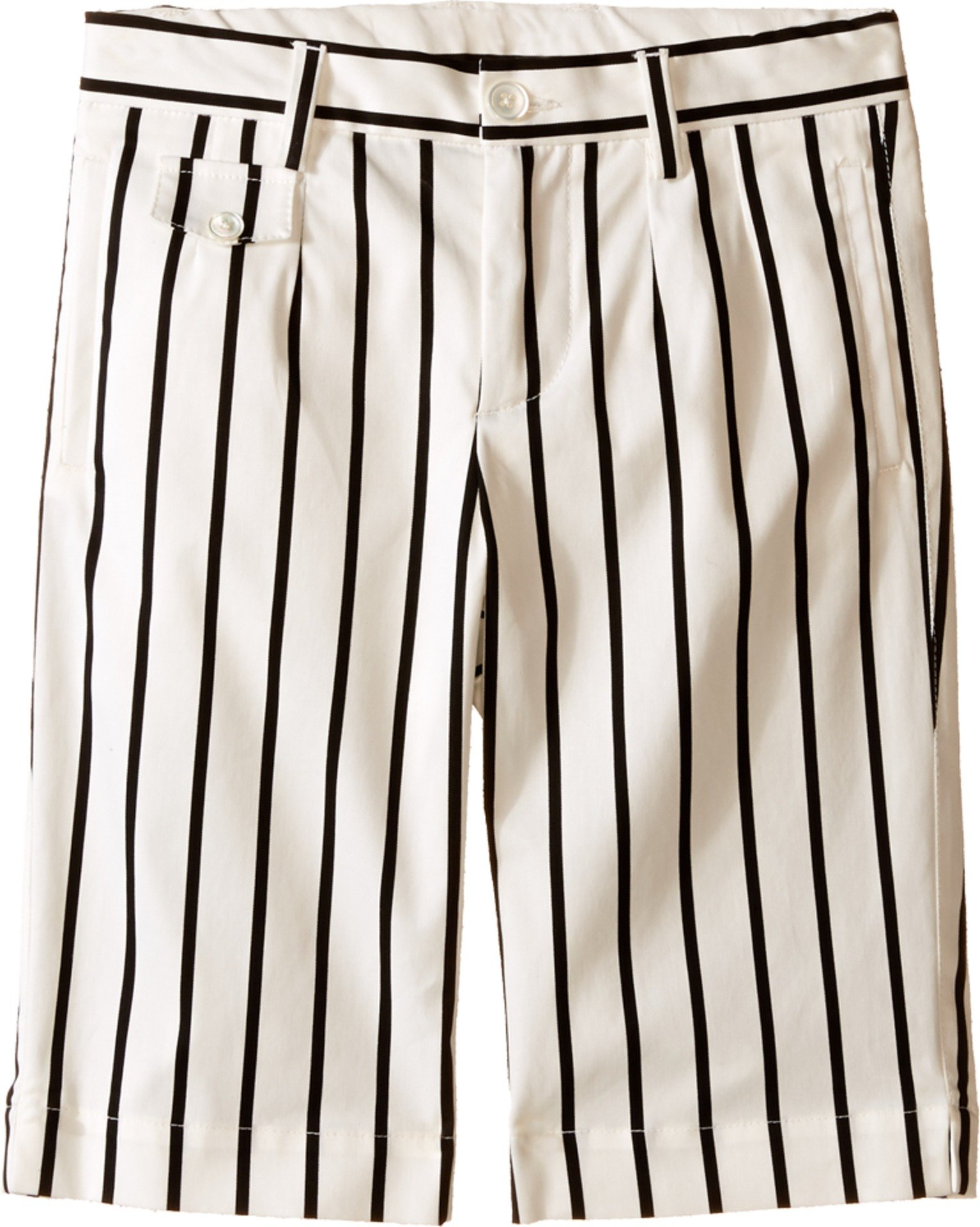 Dolce & Gabbana Kids Baby Boy's Striped Shorts (Toddler/Little Kids) Black/White Stripe Print Shorts by Dolce & Gabbana