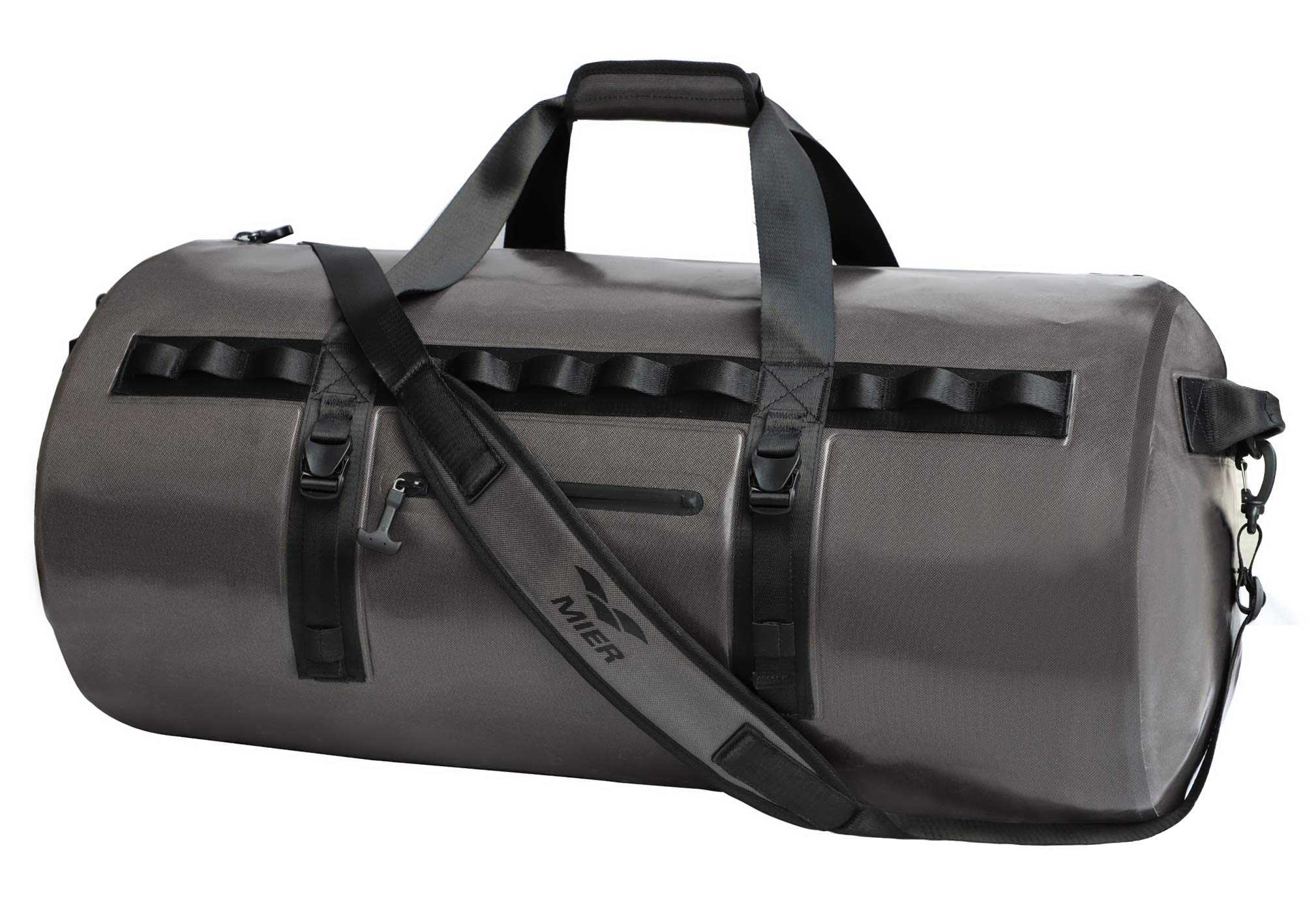 MIER Waterproof Dry Duffel Bag Airtight TPU Dry Bag for Motorcycle, Kayaking, Rafting, Skiing, Travel, Hiking, Camping, 70L/90L, Dark Grey
