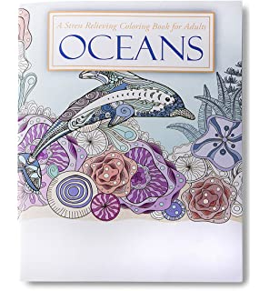 Oceans Stress Relieving Coloring Book For Adults And Kids