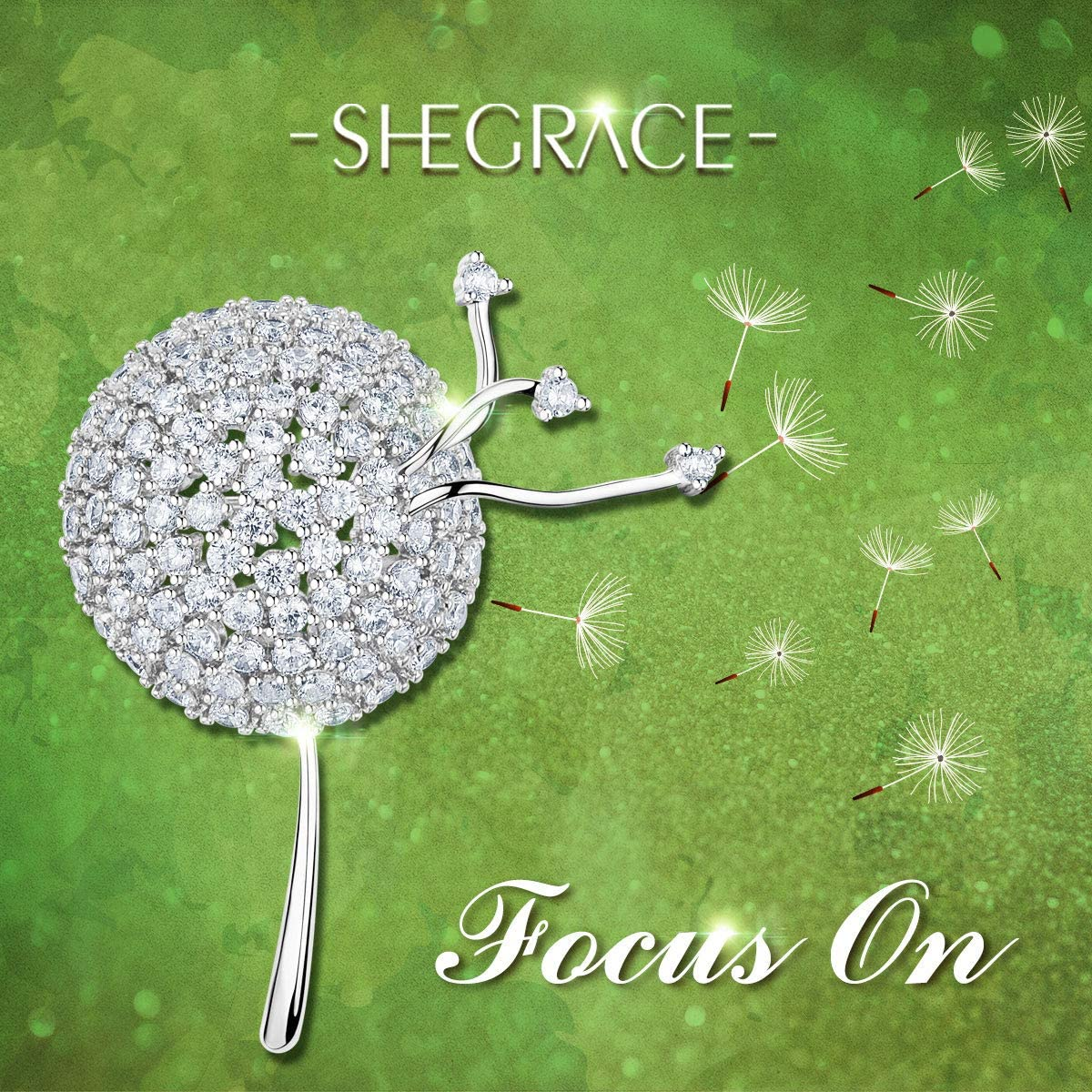 SHEGRACE Womens Brass AAA Cubic Zirconia Christmas Reindeer Deer Brooch Jewelry Gift Valentines Day Reusable
