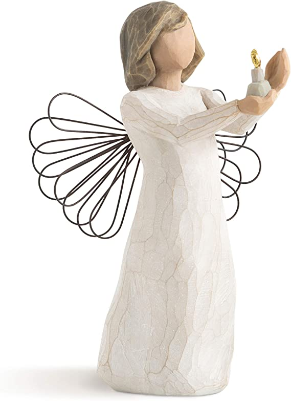 Amazon Com Willow Tree Angel Of Hope Sculpted Hand Painted Figure Home Kitchen