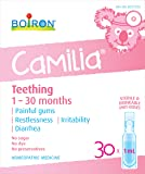 Boiron Camilia Baby Teething Relief Medicine, 30 unit-doses (1 ml each). Camilia relieves pain, restlessness, irritability and diarrhea due to teething. Benzocaine and Preservative-Free with Natural Active Ingredient, No Sugar, No Dye