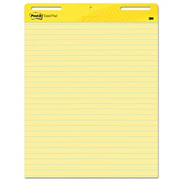 Great Post It Super Sticky Easel Pad, 25 X 30 Inches, 30 Sheets/ Regarding Lined Chart Paper
