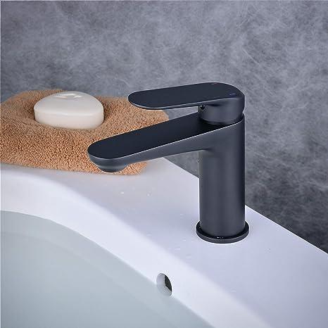 Badezimmer Waschtischarmatur Mischbatterie Einhebel Wasserhahn Matt Schwarz Waschbecken Armatur Beelee Bl6697b Amazon De Baumarkt