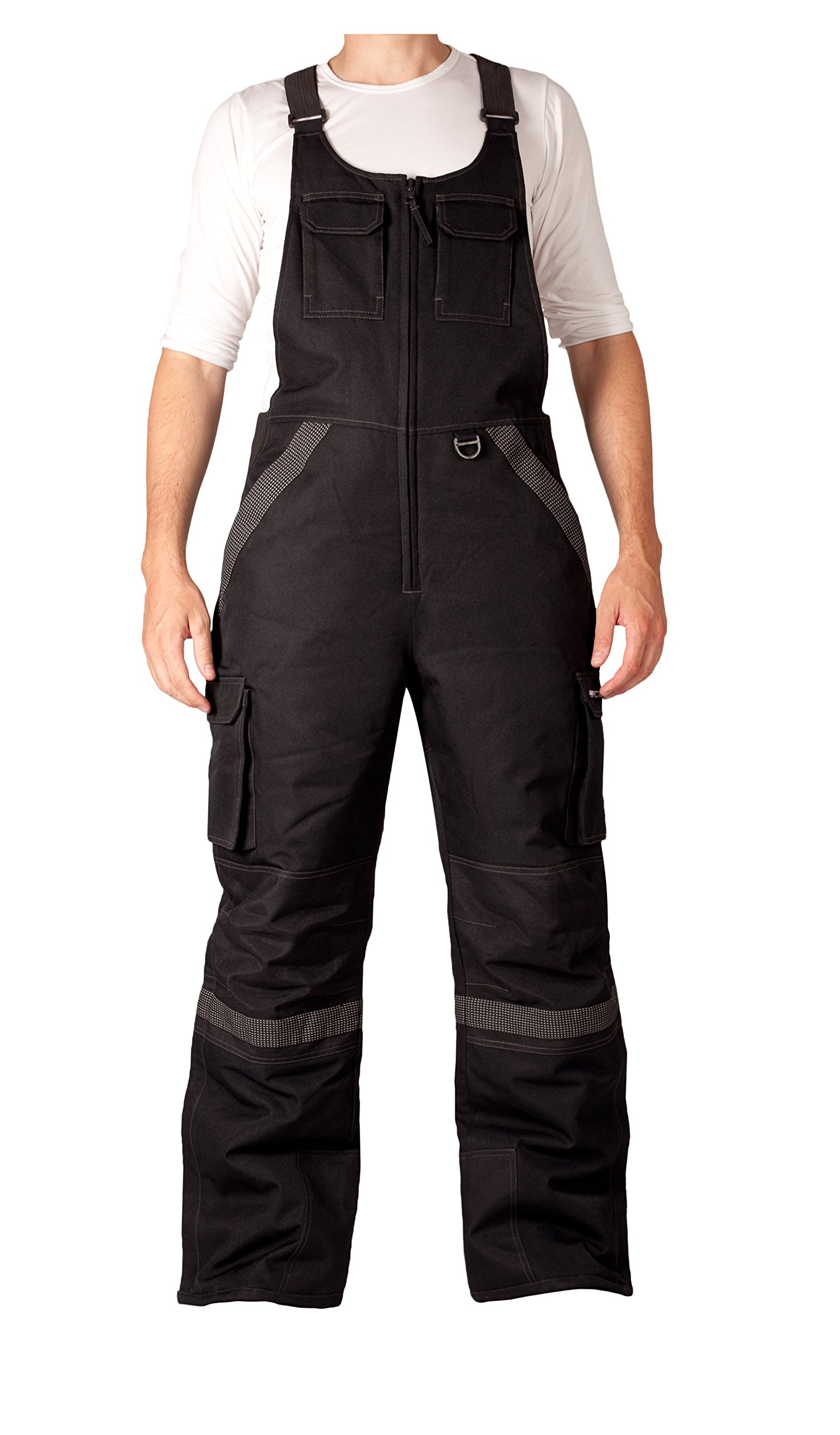 Arctix Men's Tundra Ballistic Bib Overalls With Added Visibility, Black, X-Large by Arctix