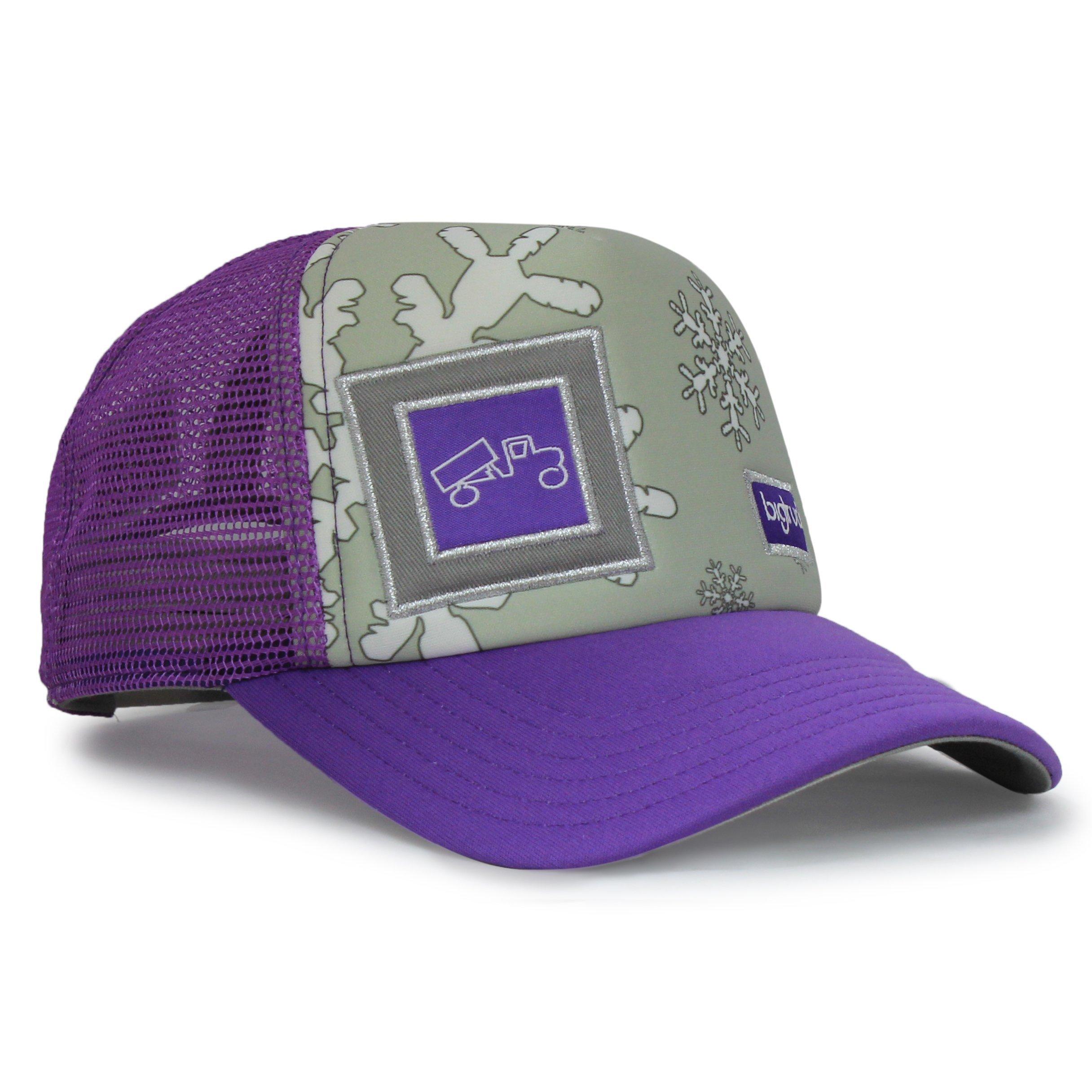 bigtruck Purple Original Kids Trucker Hat, Purple, 52cm