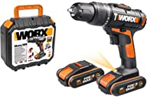 Brand New WORX WX366.6 20V MAX Cordless Hammer Drill with x1 1.5Ah Battery