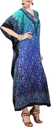 Short Kaftan Dress Satin Caftan Mini Dress Kimono Sleeve Short Tunic Nightdress Beach Cover Up Tunic Tops for Women Nighty Sleepwear
