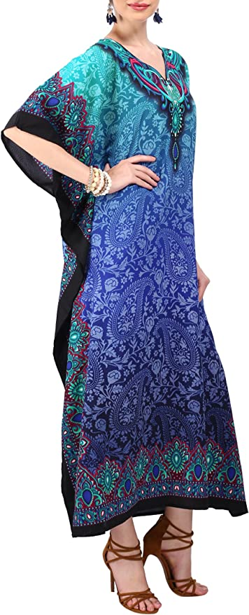 For to be Moms Best Gift for her Kaftan beach cover up Sleepwear Long Kaftan Indian Kaftan Perfect long dress Floral Kaftan Caftan