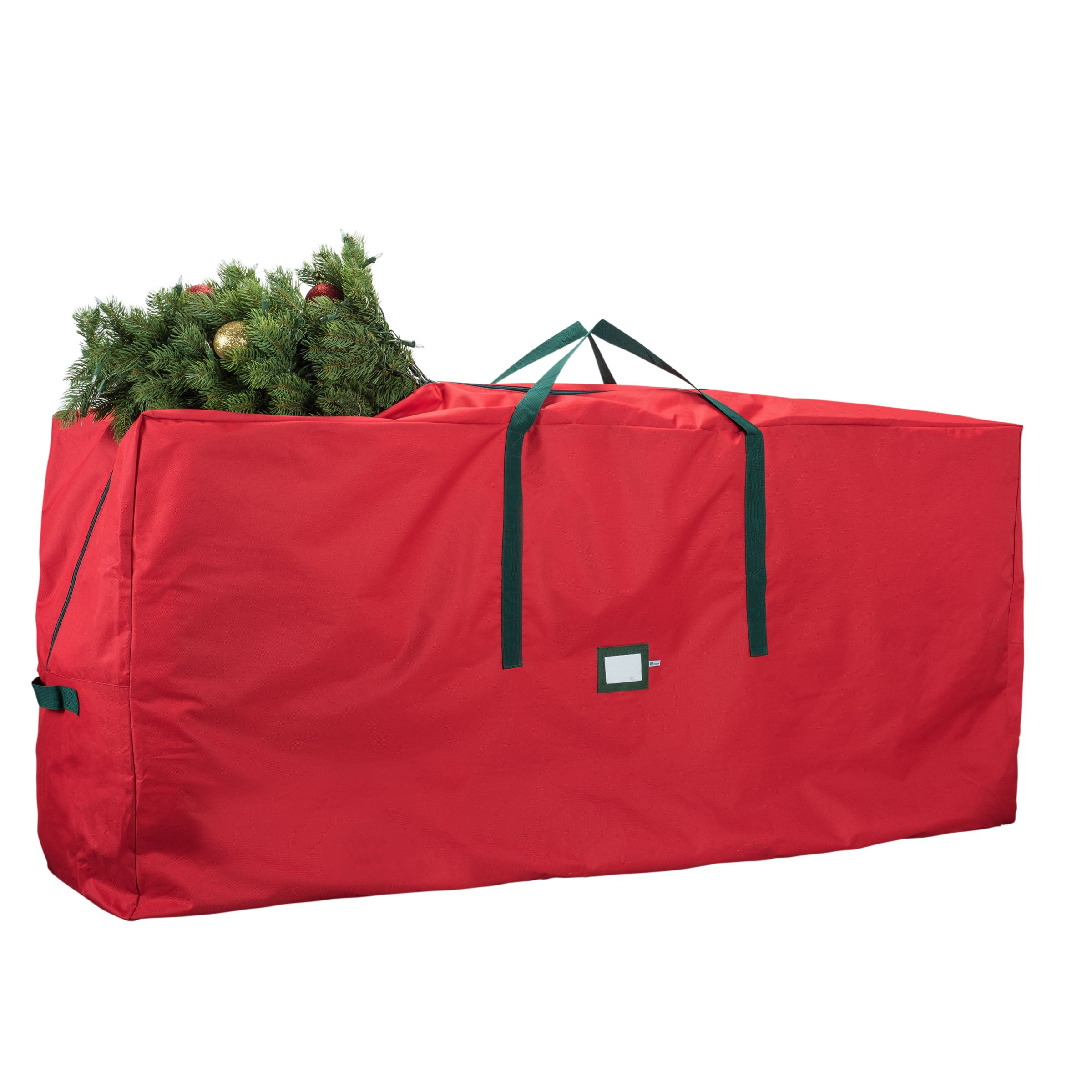 """ZOBER Christmas Tree Storage Bag - Premium 600D Polyester Artificial Christmas Tree Storage Bag for Christmas Tree up to 7 ft Tall with High Performance Zipper 48"""" x 15"""" x 20"""" Red"""