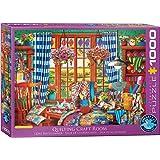 EuroGraphics (EURHR Patchwork Craft Room 1000Piece Puzzle 1000Piece Jigsaw Puzzle