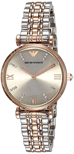 4f14bfec116c7 Image Unavailable. Image not available for. Colour  Emporio Armani Analog  Silver Dial Women s Watch - AR1840