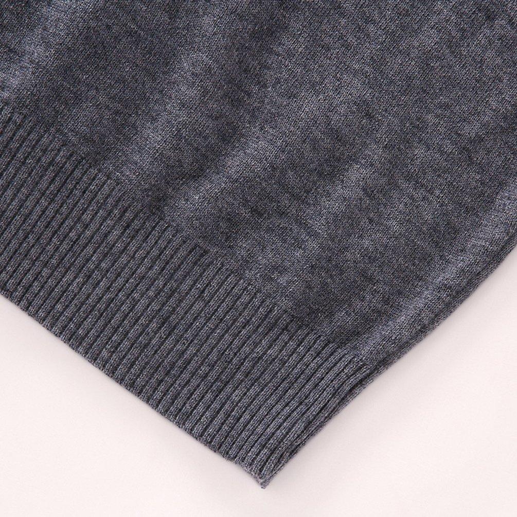 NiSeng Mens V-Neck Sleeveless Vest Business Knitwear Knitted Waistcoat Sweater Cardigans Gilet Tops