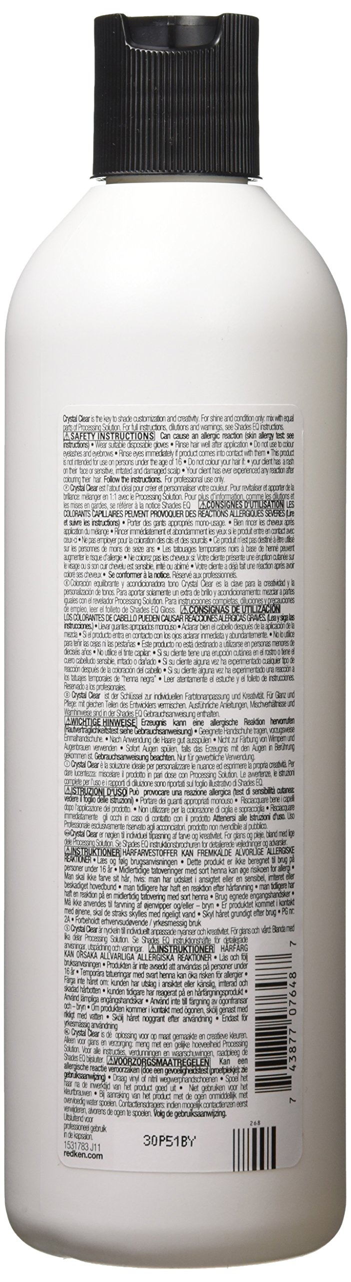 Redken Shades EQ Color Gloss Hair Color for Unisex, 000 Crystal Clear, 16.89 Ounce by REDKEN (Image #2)