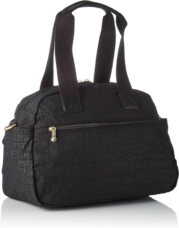 Kipling Defea Up - Bolsos maletín Mujer Negro (Black Pylon Emb)