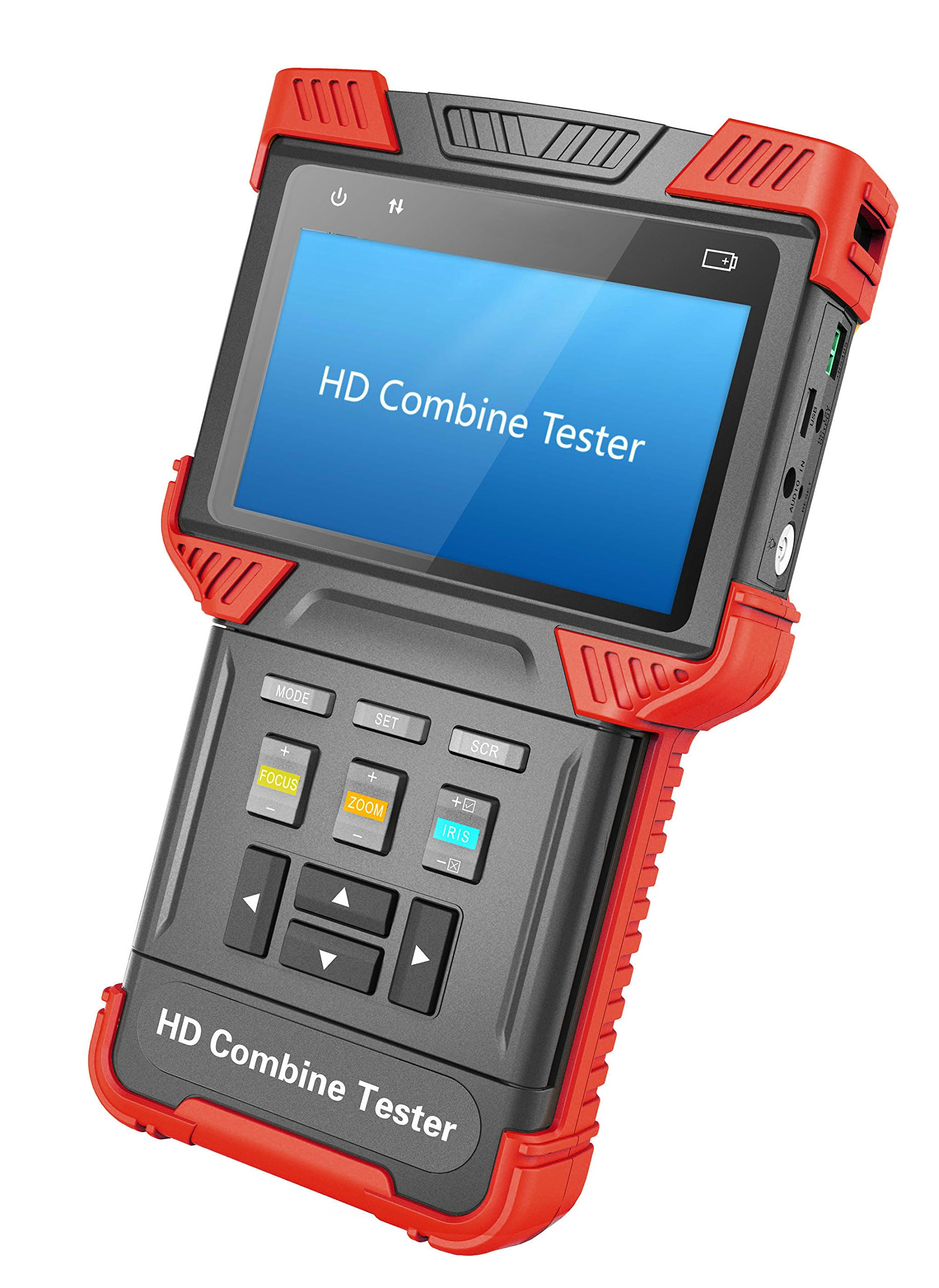 CCTV Tester AHD + IPC + TDR +POE+ Analog Camera Tester 4.0-inch Handheld Multi-function Security Tester Support 1080P(T62-AHD)